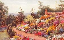 LONDON BROMLEY UK THE ROCK GARDEN~H CARRUTHERS ARTIST PAINTED POSTCARD