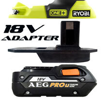 AEG Battery Adapter to Ryobi 18v One+ Works with Ryobi 18v One+ Tools