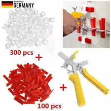 Fliesen-Clips Nivelliersystem Tile Leveling System 100 Keile+300 Laschen+Zange