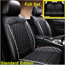 Standard Edition Leather Car Seat Cover Car Accessories Interior Black and White