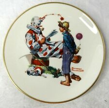 """1978 8.5"""" Norman Rockwell """"Circus Clown"""" Plate Gorham"""