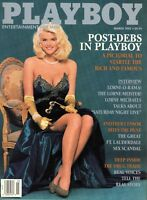 PLAYBOY MARCH 1992 Tylyn John Anna Nicole Smith Lorne Michaels Forest Whitaker