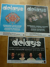 Delays Scottish tour concert gig posters x 3