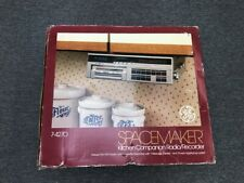 General Electric GE Spacemaker Kitchen Companion AM/FM Radio Clock Light 7-4270