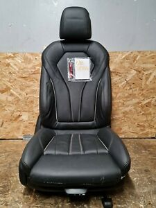 BMW 5 SERIES G30 DRIVERS/RIGHT FRONT M SPORT BLACK LEATHER SEAT #DC144