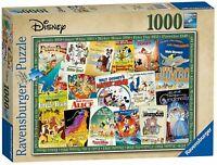 Ravensburger Puzzle Classic Disney VINTAGE POSTER 1000 Piece Jigsaw