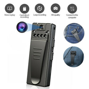 New 1080P HD Wireless Hidden Camera Body Video Recorder Night Vision Back Clip