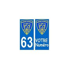 63 ASM Clermont Rugby autocollant plaque arrondis