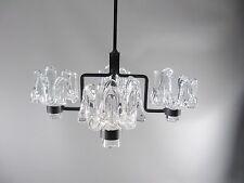 60s KERZENLEUCHTER Deckenleuchter Skandinavien Eisen Glas