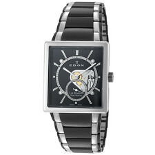 EDOX ED-72012 357N NIN MEN'S LES BELMONTS  BLACK  STAINLESS STEEL WATCH