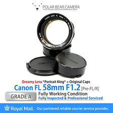 ⭐SERVICED⭐ CANON FL 58mm F1.2 *PORTRAIT KING* fits FD+Original Caps [GRADE A]