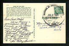 US Postal History Canada #543 Franking Postcard 1971 Dearborn MI to Woodbine NJ