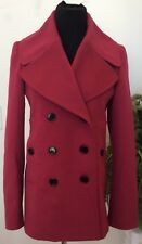 BLUEBERRY LONDON PINK WOOL & CASHMERE DOUBLE BREASTED JACKET SIZE 6 EUC