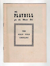 The Solid Gold Cadillac - 1954 Playbill for The Music Box Theatre - Loring Smith