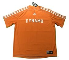 adidas MLS Mens Houston Dynamo Climalite Soccer Football Jersey NWT 2XL