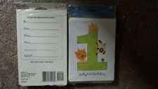 NEW IN PACKAGES~LOT OF 30 AMERICAN GREETING~BABY'S FIRST 1st BIRTHDAY~INVITATION