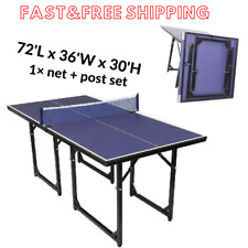Ping Pong Table,Folding Indoor Outdoor Table Tennis Sports +Net 72Lx 36Wx30H