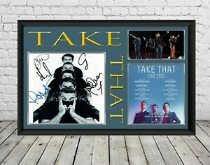 Take That Signed Photo Poster Print Autographed Memorabilia