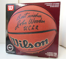Signed Best Wishes John Wooden UCLA Head Coach Basketball Legend Ball  Authentic
