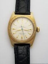 Vintage Rolex Bubbleback 6011 Orig Dial Super Oyster Crown 14k Gold Watch
