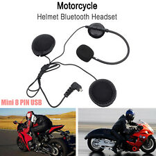Motorcycle Bike Helmet Headset Bluetooth Handsfree Headphone Mic Call Earphone