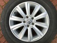 "VOLKSWAGEN VW AMAROK 18"" DURBAN ALLOY WHEEL & TYRE 2H0601025M 7.5Jx18H2 ET45 OEM"