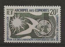 COMORES Droits de l'Homme  Neuf ** MNH  n° 15  Cote : 12,00 euros