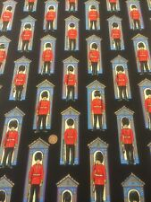 100% Cotton Quilting Craft Britannia Changing The Guard Black Nutex