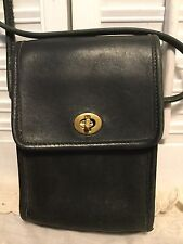 Coach Vintage Hunter Green Leather Scooter Flap Turnlock Crossbody USA Small