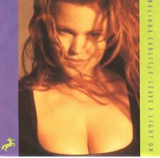 """BELINDA CARLISLE  Leave A Light On For Me PICTURE SLEEVE 7"""" 45 rpm vinyl record"""