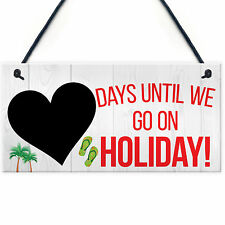 Chalkboard Countdown Days Until Holiday Hanging Sign Plaque Family Doorsign Gift