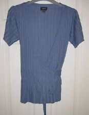 MEXX FINE KNITTED LONGER BODY FAUX WRAPOVER TOP JUMPER SIZE S OR 8-10 FREE P&P