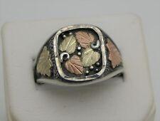 Black Hills Gold & Sterling Silver Men's Ring 12K/SS WM BHG 10.1 Grams Size 13