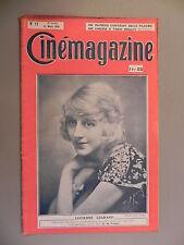 Cinémagazine - N°12 - 21 Mars 1924 - Lucienne LEGRAND - Martial VERDELLET