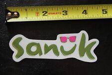 "New listing Sanuk sandal surf green sunglasses ~4.5"" Vintage Surfing Decal Sticker"