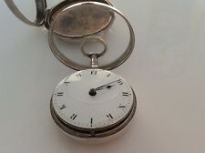 Verge Fusee Silver Pocket watch personalised for Cheshire land owner
