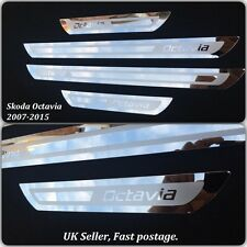 Skoda Octavia A5 A7 Stainless Steel Door Sill Protector Plates 2007-2015