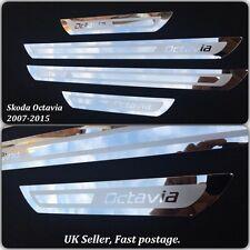 Skoda Octavia A5 A7 Stainless Steel Door Sill Protector Plates 2007-2015