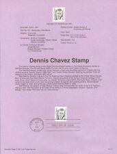 #9111 35c Dennis Chavez Stamp #2186 USPS Souvenir Page