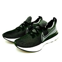 Nike Men's React Infinity Run Flyknit Running Shoes CD4371-012 Black Black White