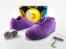 New Heelys Straight Up Big Kid Youth Purple Lace Up Casual Us 5 Skate Shoes 280D