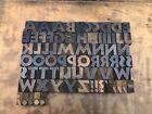 Large Antique VTG Hamilton Rugged Wood Letterpress Print Type Block Letter Set