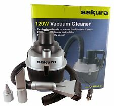 12v Car Caravan Wet Dry Vacuum Cleaner Portable Air Bed Pump Inflator