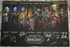 Blizzcon 2018 World of Warcraft WoW Mini Poster signed by Voice Actors