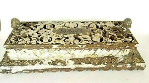 Antique  Radiator Cover Reliable Cast Iron Ornate Plant Stand Garden