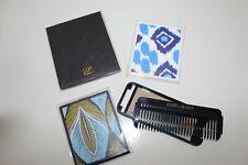 ESTEE LAUDER Navy Blue Portable Comb & Mirror Set /Travel Folding Compact Mirror