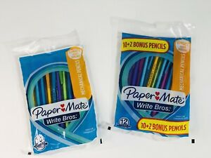 Paper Mate Mechanical Pencils 0.7mm HB #2 Assorted Colors 10 + 12 Write Bros.