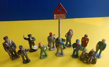 Painted Lead Train Toy LOT Hobo, Paper Boy, Porter, Conductor, Passengers, Etc