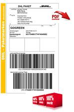 20kg | DHL Paketmarke, Paketschein, Versandschein, Versandlabel, Frankierung