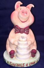 Rare JESSICA BREEDLOVE Designs Ceramic Camp Grandma Piggy Savings Bank